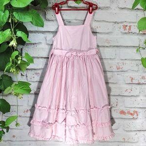 🍋MAGGIE & ZOE Pink/White pinstripes Full Dress🍋